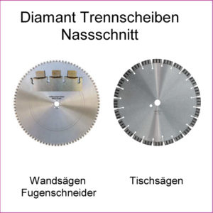 Diamant Trennscheiben Nassschnitt