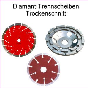 Diamant Trennscheiben Trockenschnitt