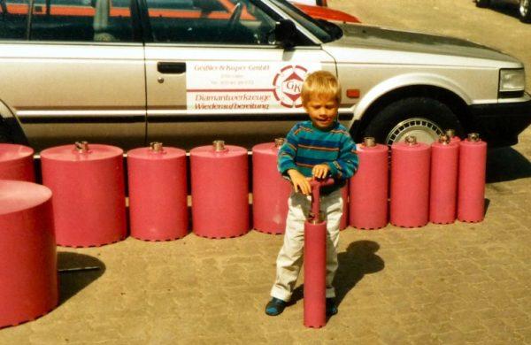"""Tim damals 4 Jahre alt """" T """""""